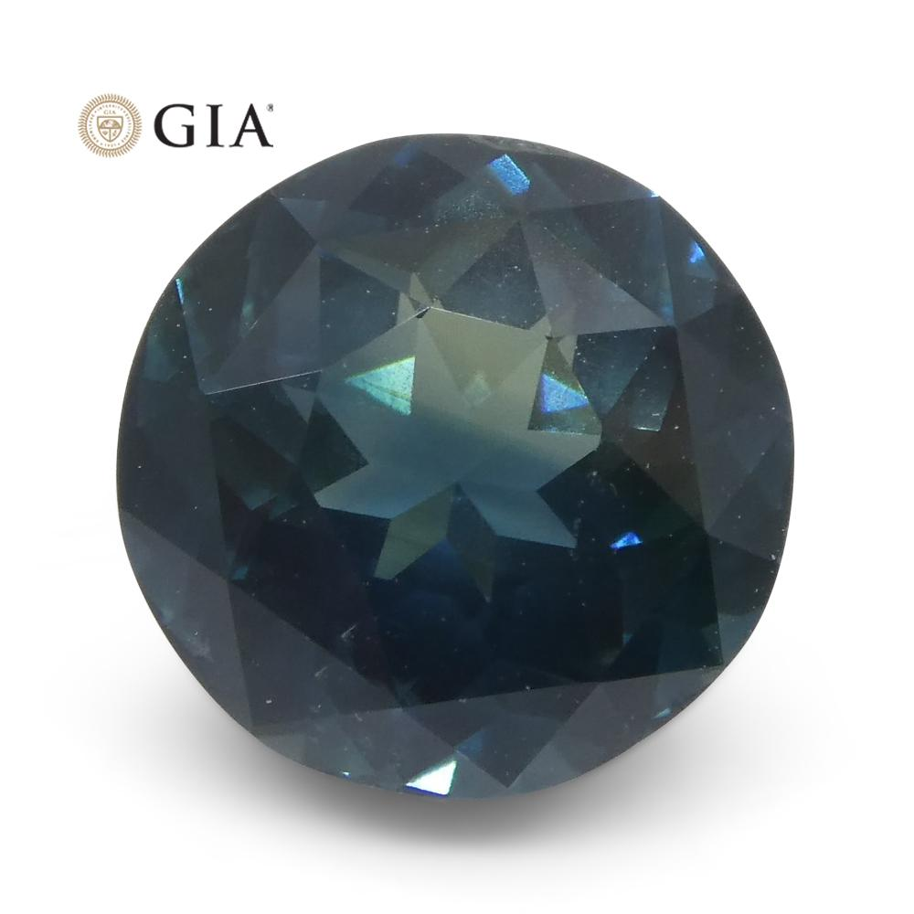 2.8ct Round Blue Sapphire GIA Certified Thailand