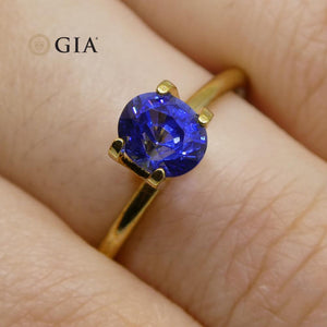 1.09ct Oval Blue Sapphire GIA Certified Sri Lanka - Skyjems Wholesale Gemstones