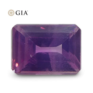 0.51ct Octagonal Pink-Purple Sapphire GIA Certified Pakistan / Kashmir Unheated - Skyjems Wholesale Gemstones