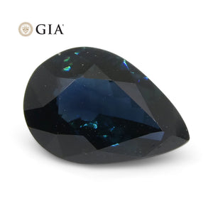 1.87ct Pear Teal Blue Sapphire GIA Certified Australia Unheated - Skyjems Wholesale Gemstones