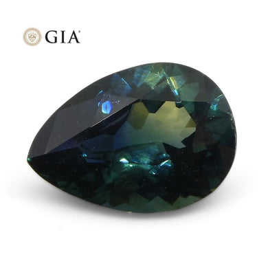 1.92ct Pear Teal Blue Sapphire GIA Certified Nigeria Unheated - Skyjems Wholesale Gemstones