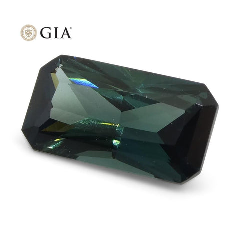 1.18ct Octagonal/Emerald Cut Teal Blue Sapphire GIA Certified Unheated