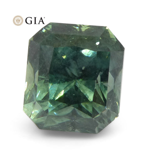 2.82ct Octagonal/Emerald Cut Teal Blue Sapphire GIA Certified Unheated Montana Sapphire (American Blue)