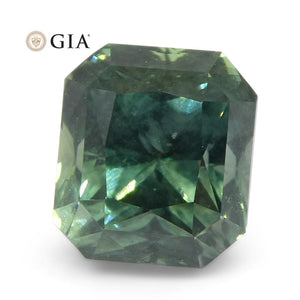 2.82ct Octagonal/Emerald Cut Teal Blue Sapphire GIA Certified Unheated Montana Sapphire (American Blue) - Skyjems Wholesale Gemstones