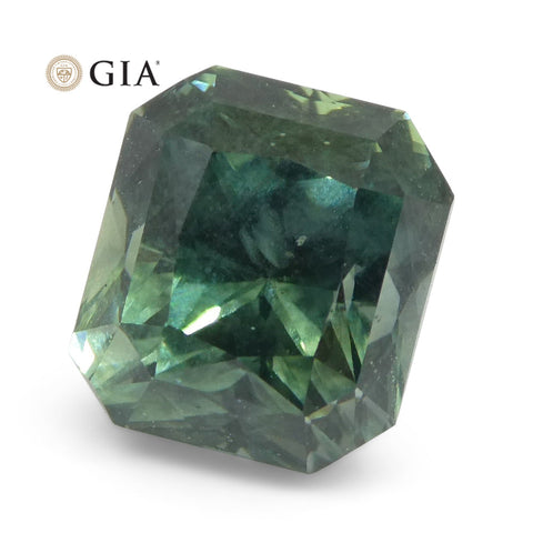 Vivid Teal Greenish-Blue Sapphire 2.82ct GIA Certified Unheated Montana