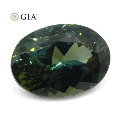 1.30ct Oval Teal Green Sapphire GIA Certified Australian
