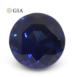 2.61ct Round Blue Sapphire GIA Certified Madagascar Unheated - Skyjems Wholesale Gemstones