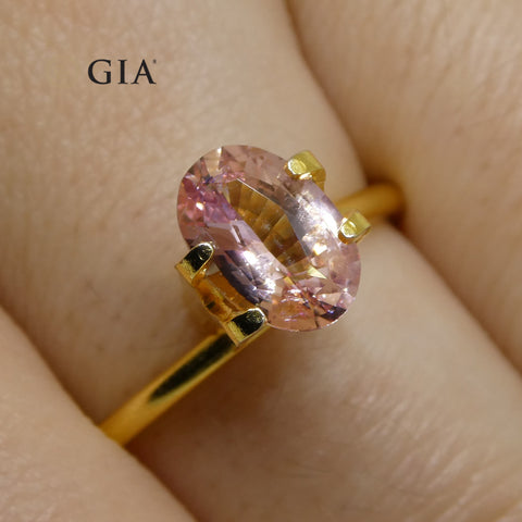 1.51ct Oval Orangy Pink Padparadscha Sapphire GIA Certified Sri Lankan Unheated