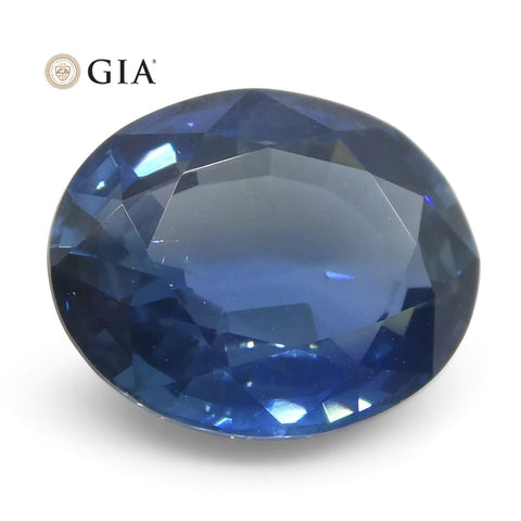 2.38ct Oval Blue Sapphire GIA Certified Thailand