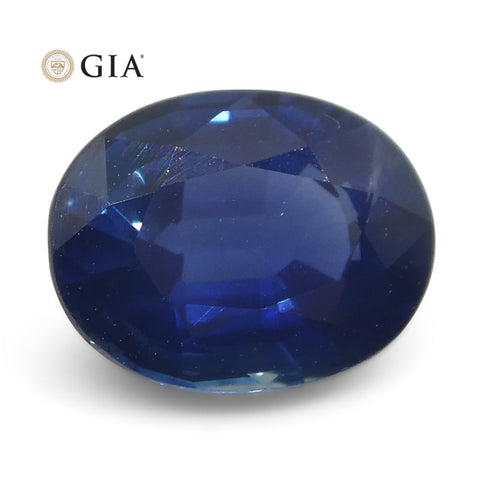 1.78ct Oval Blue Sapphire GIA Certified Thailand