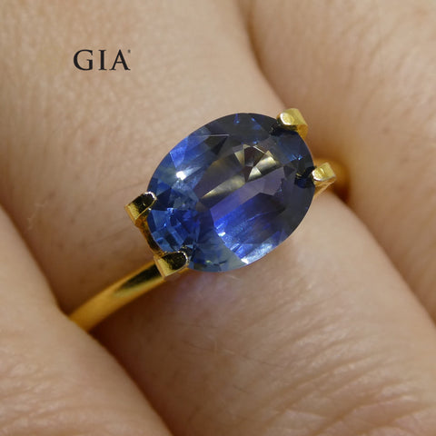 1.85ct Oval Blue Sapphire GIA Certified Thailand