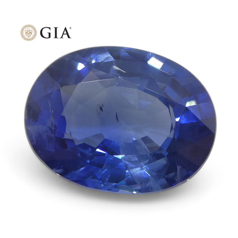 1.95ct Oval Blue Sapphire GIA Certified Thailand