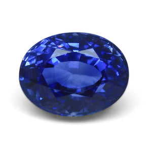 5.16ct. Oval GIA Certified Blue Sapphire