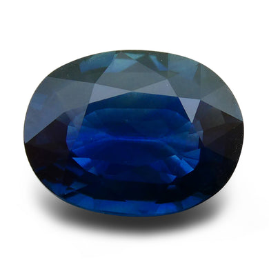 GIA Certified Sapphire 3.29 Oval Mixed Cut Blue 5191654867 1950