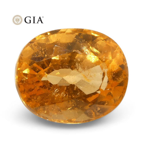 3.00ct Vivid Fanta Orange Spessartine/Spessartite Garnet Oval, GIA Certified