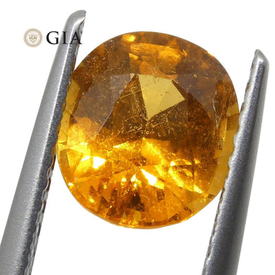 2.11ct Vivid Fanta Orange Spessartine/Spessartite Garnet Oval, GIA Certified - Skyjems Wholesale Gemstones