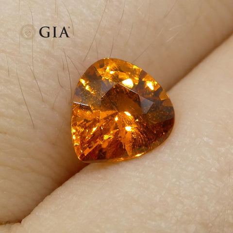 1.67ct Vivid Fanta Orange Spessartine/Spessartite Garnet Pear, GIA Certified