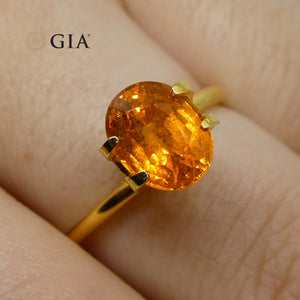 2.54ct Vivid Fanta Orange Spessartine/Spessartite Garnet Oval, GIA Certified - Skyjems Wholesale Gemstones