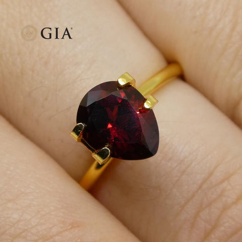1.54ct Pear Red Spinel GIA Certified Vietnam Unheated