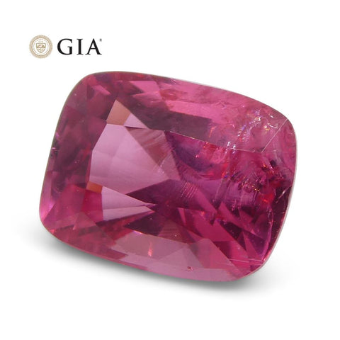 1.80ct Cushion Cut VIVID Mahenge Spinel GIA Certified Tanzania Unheated
