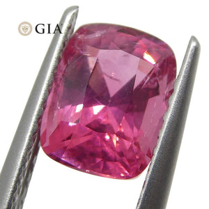 1.80ct Cushion Cut VIVID Mahenge Spinel GIA Certified Tanzania Unheated - Skyjems Wholesale Gemstones