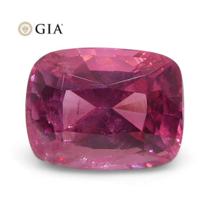 Vivid Intense Pink Mahenge Spinel 1.80ct Cushion Cut GIA Certified Tanzania Unheated - Skyjems Wholesale Gemstones