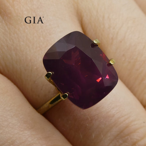 9.98ct Cushion Purple-Red Spinel GIA Certified Tanzania