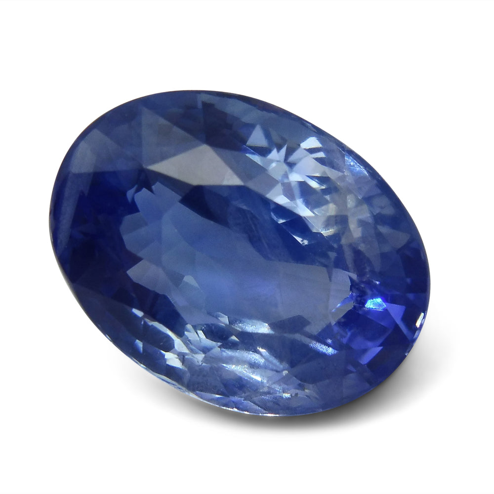 certified natural vivid oval sapphire gia blue ct ceylon cut