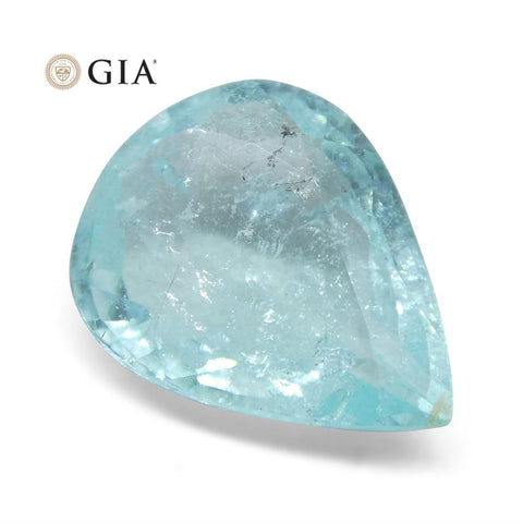 1.58 ct Pear Paraiba Tourmaline GIA Certified Mozambique