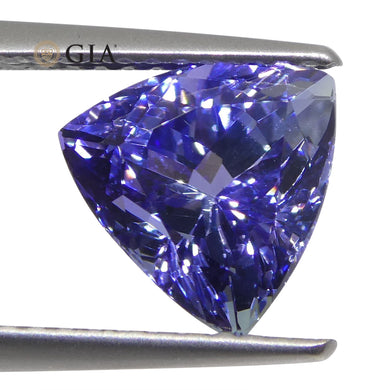 2.7ct Triangular/Trillion Violet-Blue Tanzanite GIA Certified - Skyjems Wholesale Gemstones