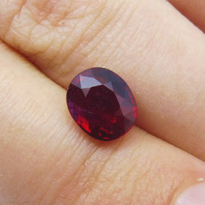 2.01ct. GRS Certified Unheated Pigeon Blood Red Ruby