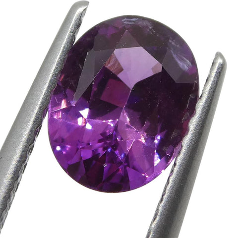 1.51ct Oval Pink Sapphire GRS Certified