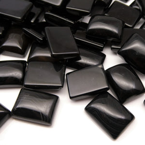 200 cts Onyx 20x15mm Rectangular Cabochon Wholesale Lot Calibrated - Skyjems Wholesale Gemstones