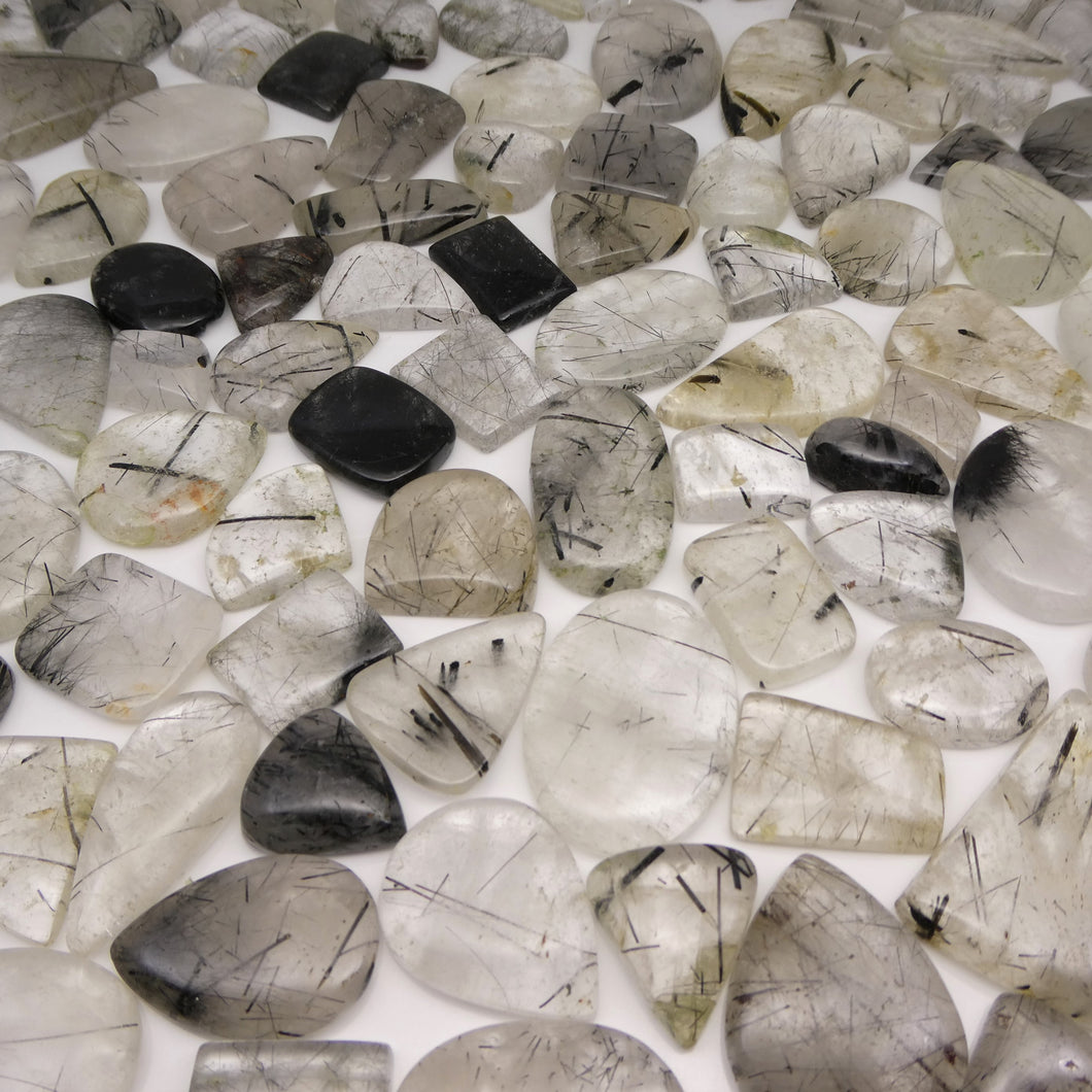 1000 cts Tourmalated/Tourmalinated Quartz Cabochon Wholesale Lot