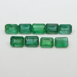 Emerald 15.17cts 7.84x5.77x3.22mm to 8.19x6.11x4.02mm Emerald Cut Green $1520