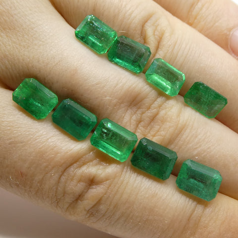 15.17ct Emerald Cut Emerald Wholesale Lot