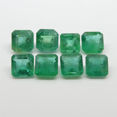 Emerald 16cts 7.00x6.91x5.07mm to 7.81x7.70x4.63mm Square Green $1600
