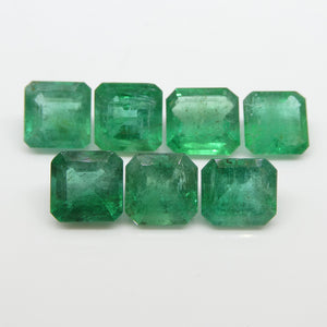 Emerald 17.66cts 7.99x7.86x5.44mm to 9.14x8.64x4.16mm Square/Emerald Cut Green $2210