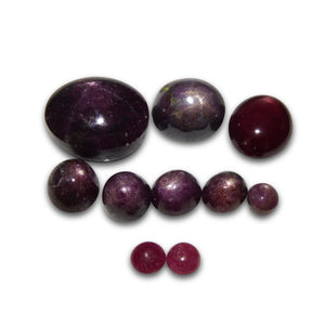 117.82 cts Star Ruby Wholesale Lot - Skyjems Wholesale Gemstones