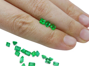 Colombian Emerald 4.22 cts 18st Square/Emerald Cut Wholesale Lot