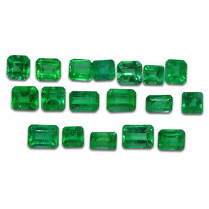 Colombian Emerald 4.22 cts 18st Square/Emerald Cut Wholesale Lot - Skyjems Wholesale Gemstones