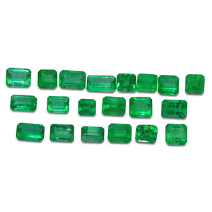 Colombian Emerald 7 cts 26st Emerald Cut/Square WHOLESALE LOT - Skyjems Wholesale Gemstones