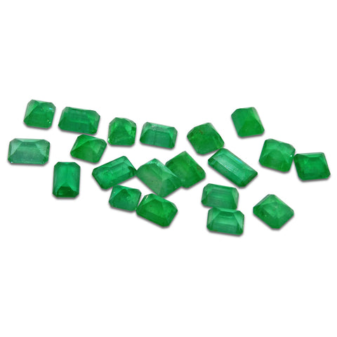 Colombian Emerald 7 cts 26st Emerald Cut/Square WHOLESALE LOT