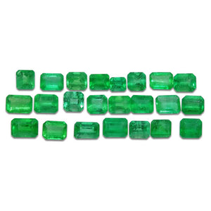 Colombian Emerald 10.8 cts 23st Emerald Cut/Square Wholesale Lot - Skyjems Wholesale Gemstones