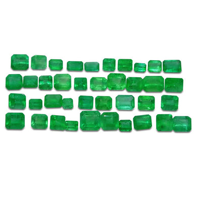 Colombian Emerald 18.76 cts 39st Emerald Cut/Square Wholesale Lot - Skyjems Wholesale Gemstones