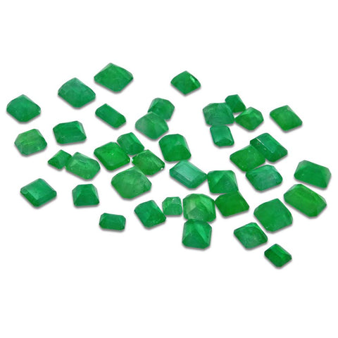 Colombian Emerald 18.76 cts 39st Emerald Cut/Square Wholesale Lot