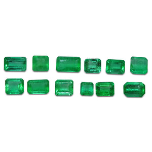 Colombian Emerald 4.09 cts 12st Emerald Cut/Square WHOLESALE LOT