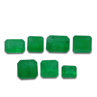 Colombian Emerald 2.92 cts 7st Emerald Cut WHOLESALE LOT - Skyjems Wholesale Gemstones