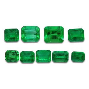 Colombian Emerald 3.09 cts 9st Emerald Cut Wholesale Lot - Skyjems Wholesale Gemstones