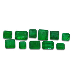 Colombian Emerald 4.73 cts 11st Emerald Cut/Square WHOLESALE LOT - Skyjems Wholesale Gemstones